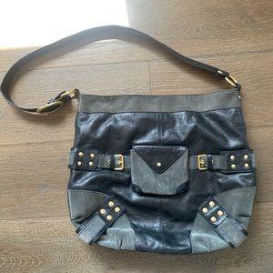 Large leather shoulder bag. Great quality.
